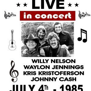Other - Highway Mend Cash Nelson Waylon concert Poster